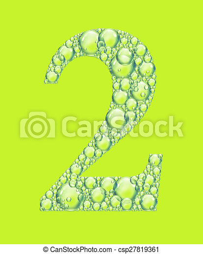 green two bubbles - csp27819361