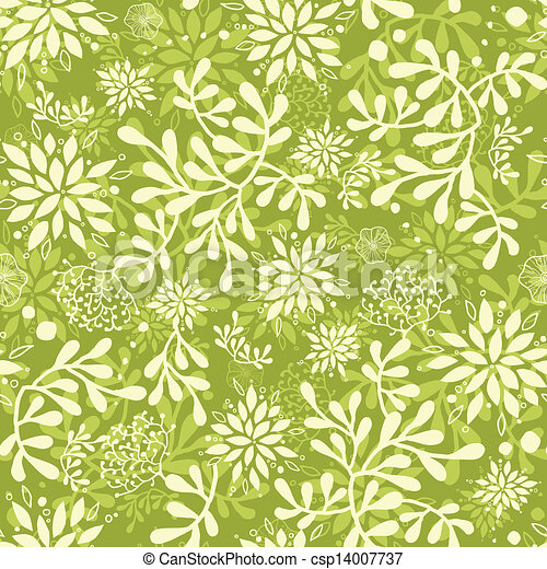 Green underwater plants seamless pattern background - csp14007737