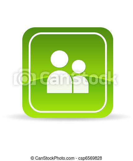 Green User Account Icon - csp6569828