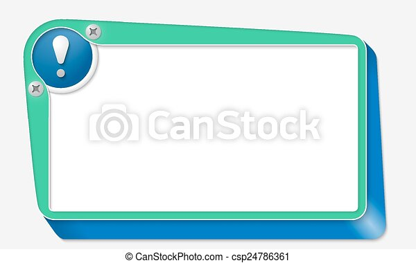 green vector box with screws and exclamation mark - csp24786361