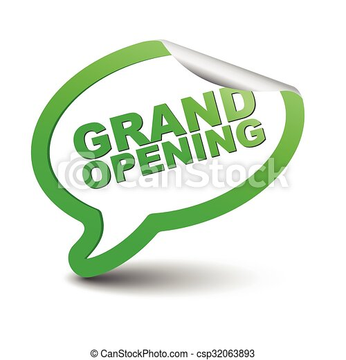 green vector element bubble grand opening - csp32063893