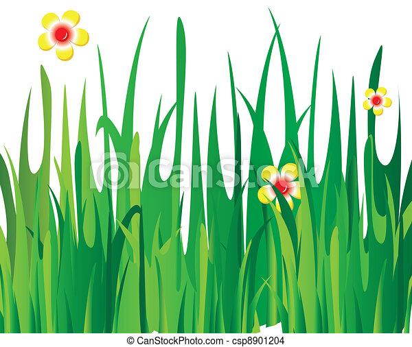Green vector grass - csp8901204