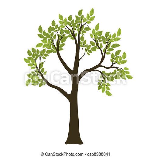 Green Vector Tree. Nature Symbol - csp8388841