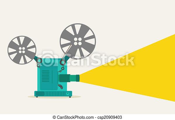 green vintage movie projector super 8 rh canstockphoto com Movie Theater Clip Art Movie Night Clip Art