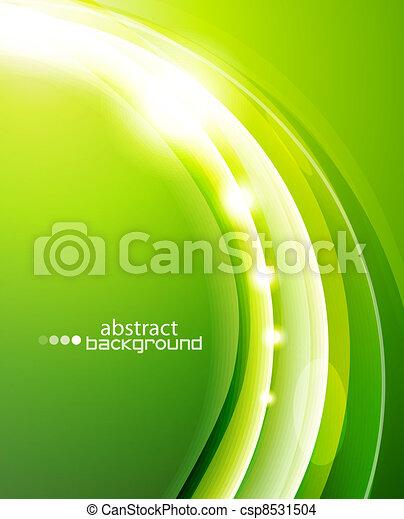 Green wave background - csp8531504