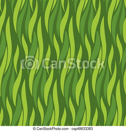 green wave seamless pattern for background, surface design. abstract grass texture illustration for surface design - csp48633383
