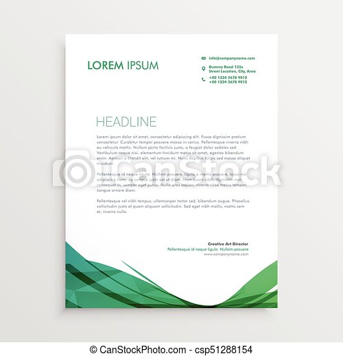 Green wavy shape letterhead vector design template green wavy shape letterhead vector design template spiritdancerdesigns Gallery