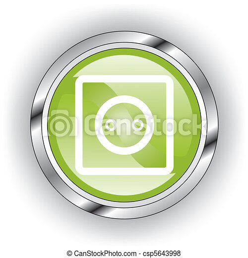 green web glossy button or icon - csp5643998