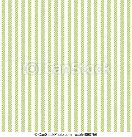 Green white striped fabric texture seamless pattern. vector ...