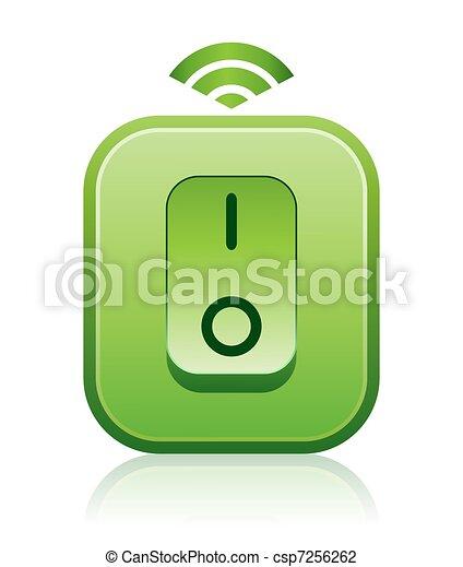 Green Wireless Remote Light Switch - csp7256262