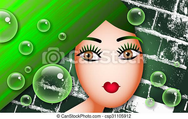 Green Woman - csp31105912