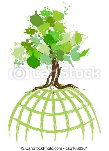 Green World Concept Environmental Concept Image Green World