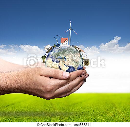 Green world concept - csp5583111
