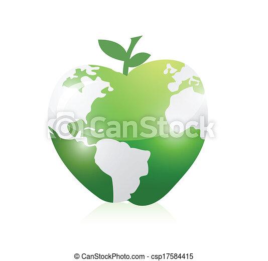Green world map apple illustration design over a white background green world map apple illustration design gumiabroncs Images
