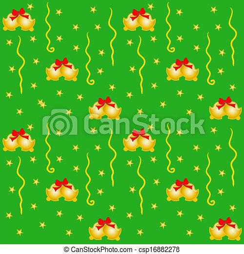 Green Xmas Wrapping - csp16882278