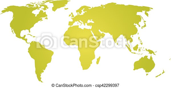 Green yellow silhouette of world map map of world green eps green yellow silhouette of world map csp42299397 gumiabroncs Choice Image