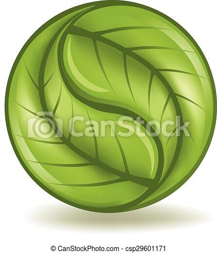 Green Yin Yang - csp29601171