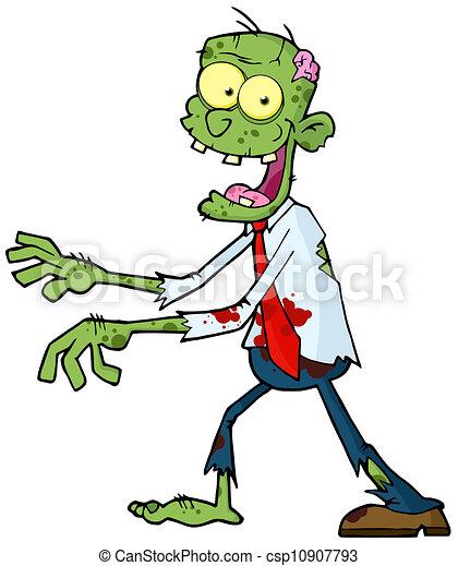 Green Zombie - csp10907793