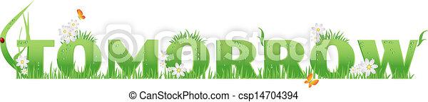 Green(Eco) Tomorrow - csp14704394