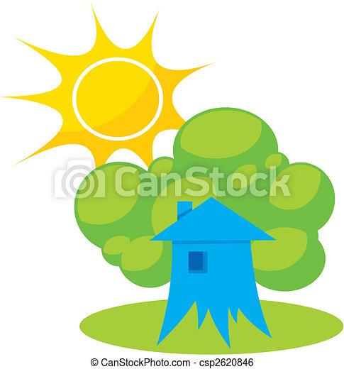 Greener home 1 vector - csp2620846