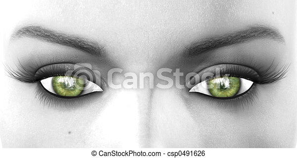 greens eyes watching - csp0491626