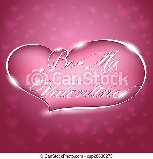 Greeting Card - Be My Valentine - csp28630273
