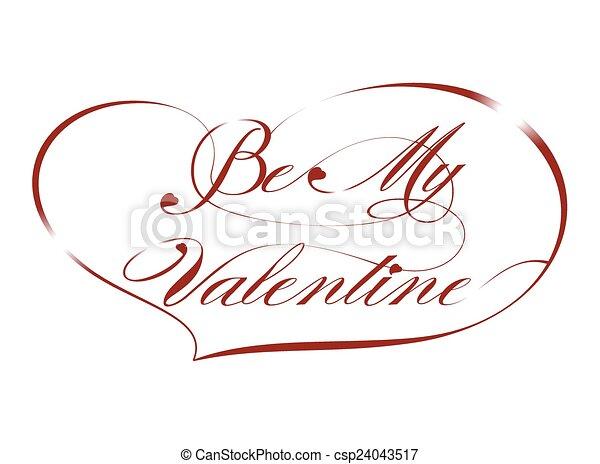 Greeting Card-Be My Valentine - csp24043517