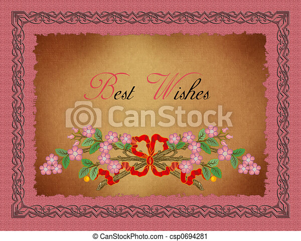 Greeting card-best wishes. Greeting card, just write the name at the ...