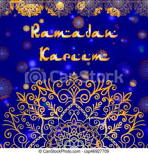 Greeting card design with text ramadan kareem for muslim festival in greeting card design with text ramadan kareem for muslim festival csp46927709 m4hsunfo
