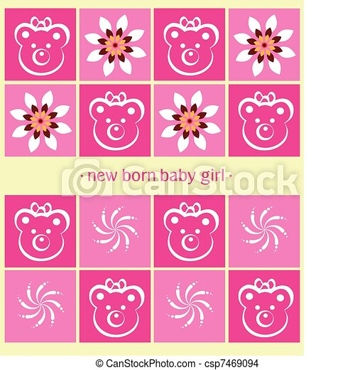 Greeting card new born baby girl card greeting card csp7469094 m4hsunfo