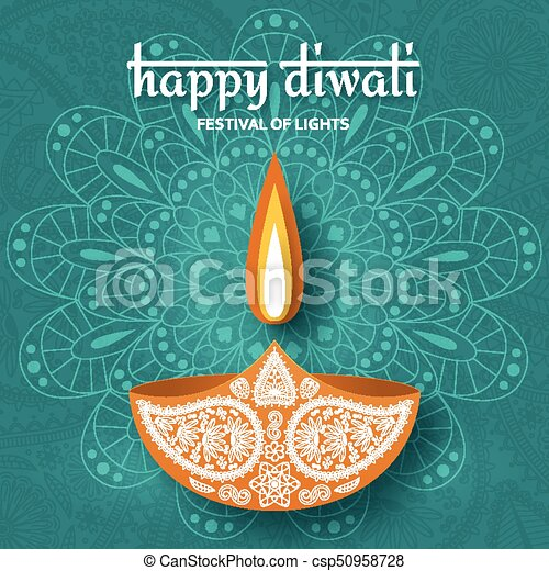 Greeting card for diwali festival celebration in india vector greeting card for diwali festival celebration in india csp50958728 m4hsunfo