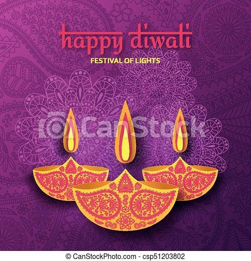 Greeting card for diwali festival celebration in india vector greeting card for diwali festival celebration in india csp51203802 m4hsunfo