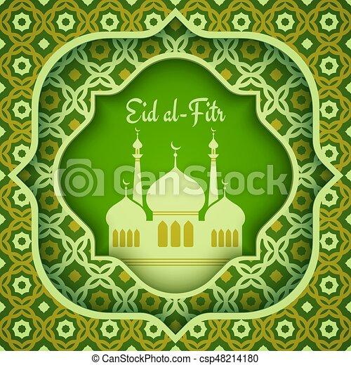 Cool Official Eid Al-Fitr Greeting - greeting-card-for-eid-al-fitr-eps-vector_csp48214180  Snapshot_59730 .jpg