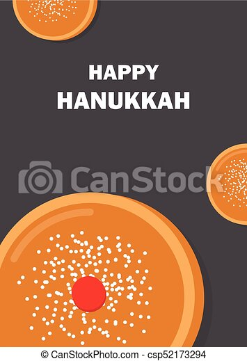 Greeting card for jewish holiday hanukkah traditional donut happy greeting card for jewish holiday hanukkah traditional donut csp52173294 m4hsunfo