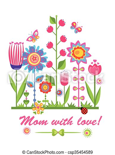 Greeting card for mothers day - csp35454589