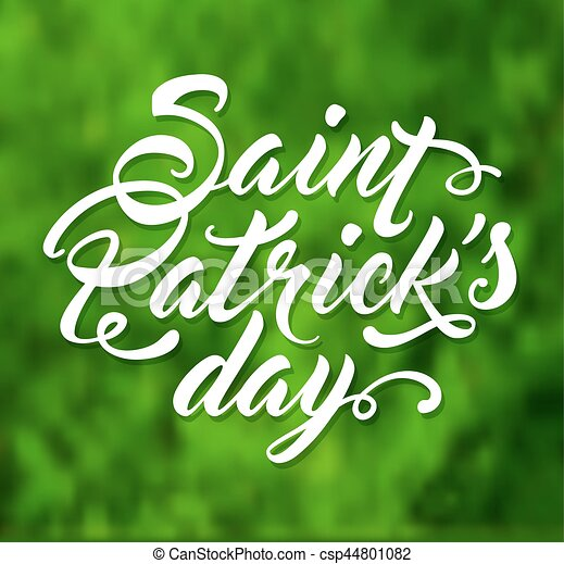 Greeting card for St. Patrick's Day - csp44801082