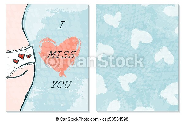 Greeting card for st valentine s day i miss you hand drawing greeting card for st valentine s day i miss you hand drawing vector illustration m4hsunfo