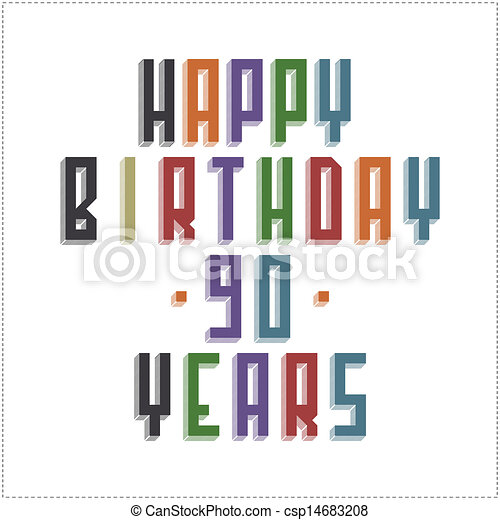Greeting card happy birthday 90 years vector clipart search greeting card happy birthday vector bookmarktalkfo Image collections