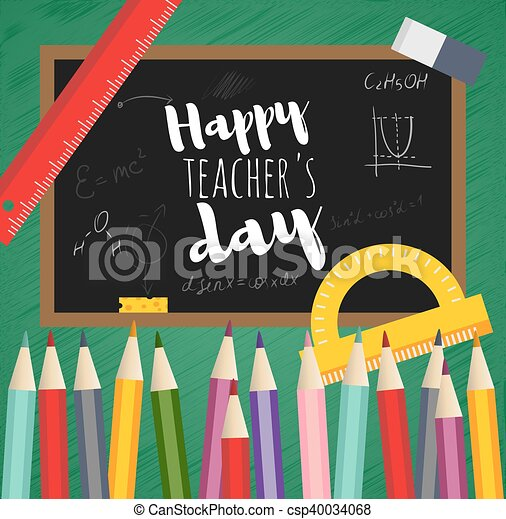 Greeting card happy teachers day black board written clip art greeting card happy teachers day csp40034068 m4hsunfo Image collections