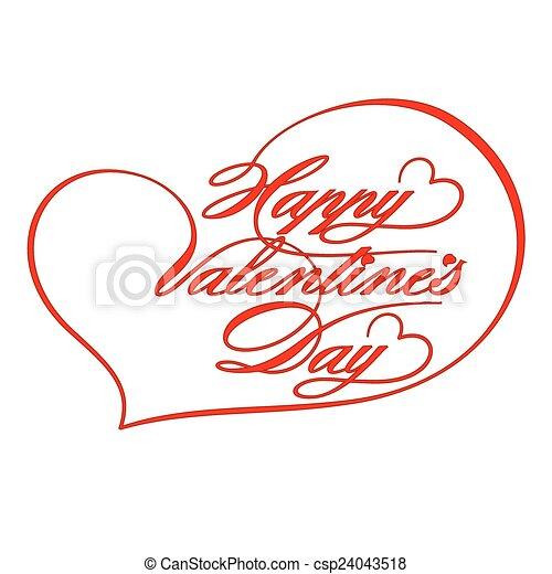 Greeting Card-Happy Valentine's Day - csp24043518
