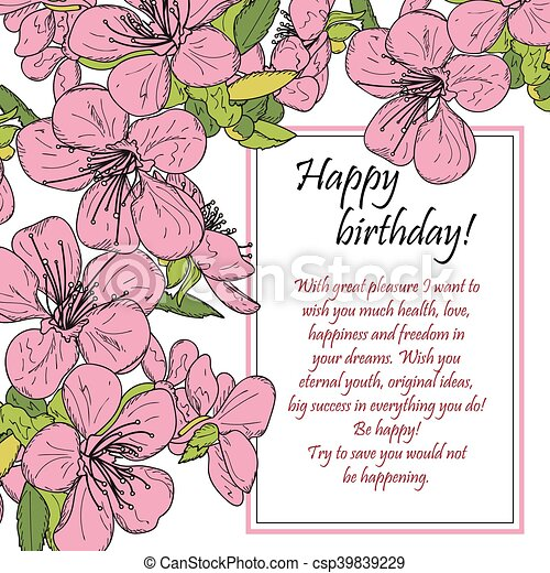 greeting card happy birthday floral greeting card Funny Happy Birthday Graphics Words Happy Birthday Clip Art