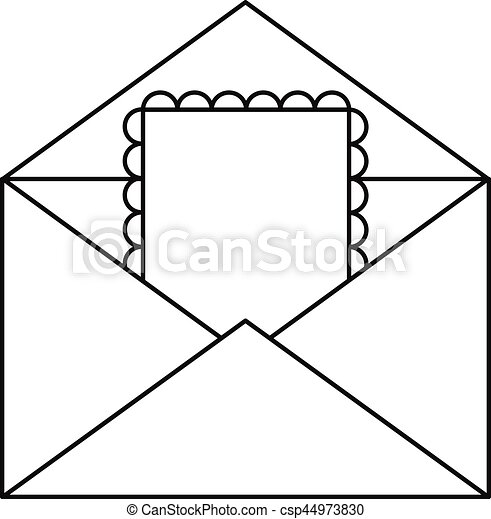 greeting card in envelope icon outline style greeting card in rh canstockphoto com greeting card clipart images greeting card border clipart
