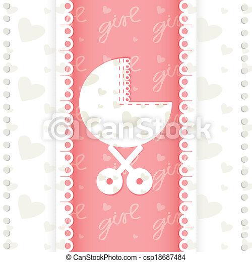 Greeting card of newborn baby girl vector eps 10 vector search greeting card of newborn baby girl vector eps 10 m4hsunfo