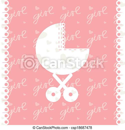 Greeting card of newborn baby girl vector eps 10 vectors greeting card of newborn baby girl vector eps 10 m4hsunfo