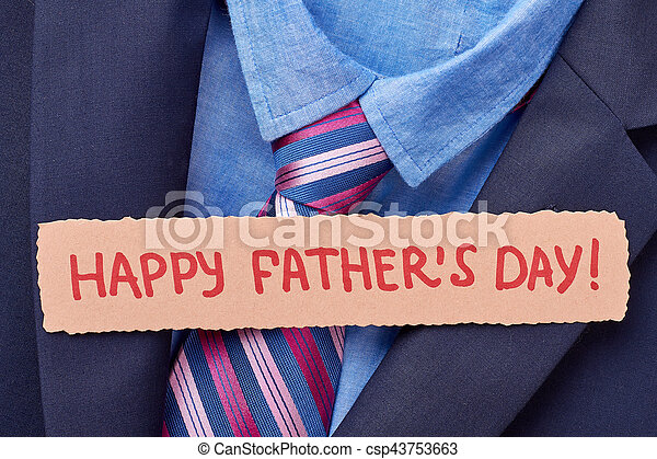 Greeting card on formal clothes. - csp43753663