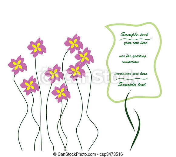 Greeting Card or Invitation - use for showers, weddings, parties. Vector - csp3473516