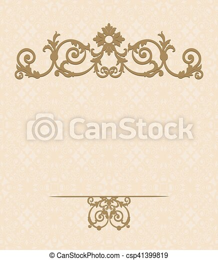 Greeting card template - csp41399819