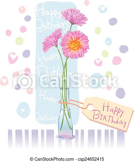 For a birthday or mothers day greeting card to mother vector clip greeting card csp24652415 m4hsunfo