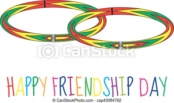 greeting card with a happy friendship day greeting card clip art rh canstockphoto ca greeting card clip art free greeting card border clipart