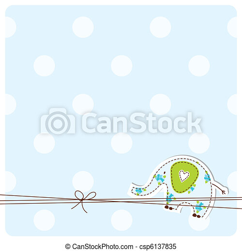 Greeting card with copy space  - csp6137835